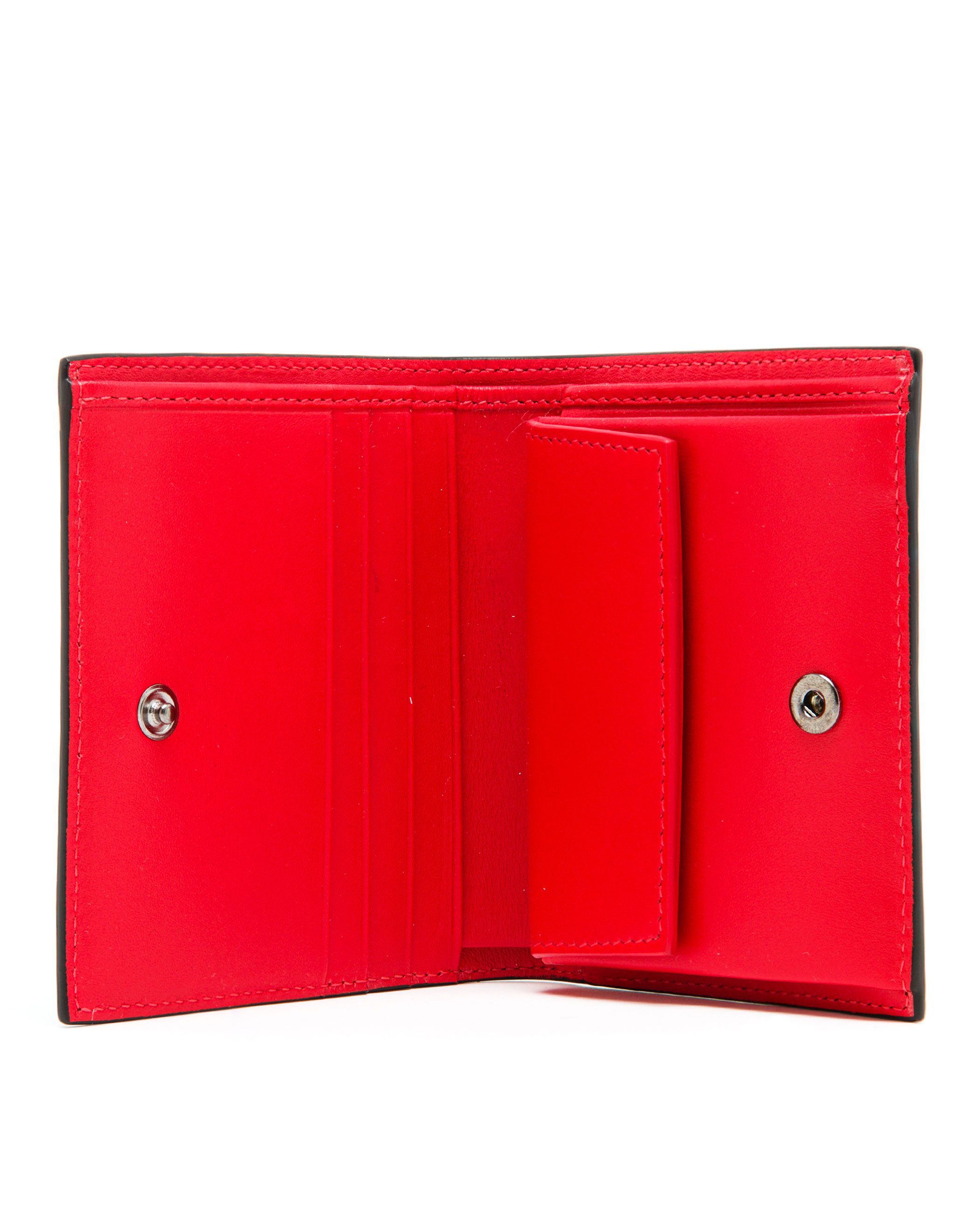Christian Louboutin Red Paros Studded Leather Wallet For Men