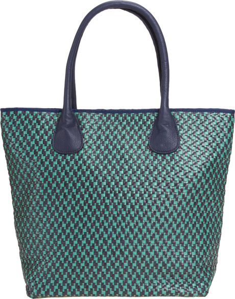 Deux Lux Postcard Large Tote in Blue (teal) - Lyst