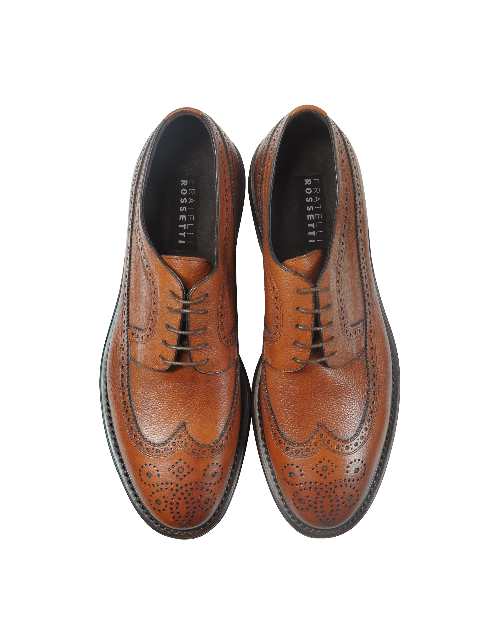 low priced be4a6 a91fe Lyst Brown Fratelli Rossetti In Wing Leather Tip Derby ...