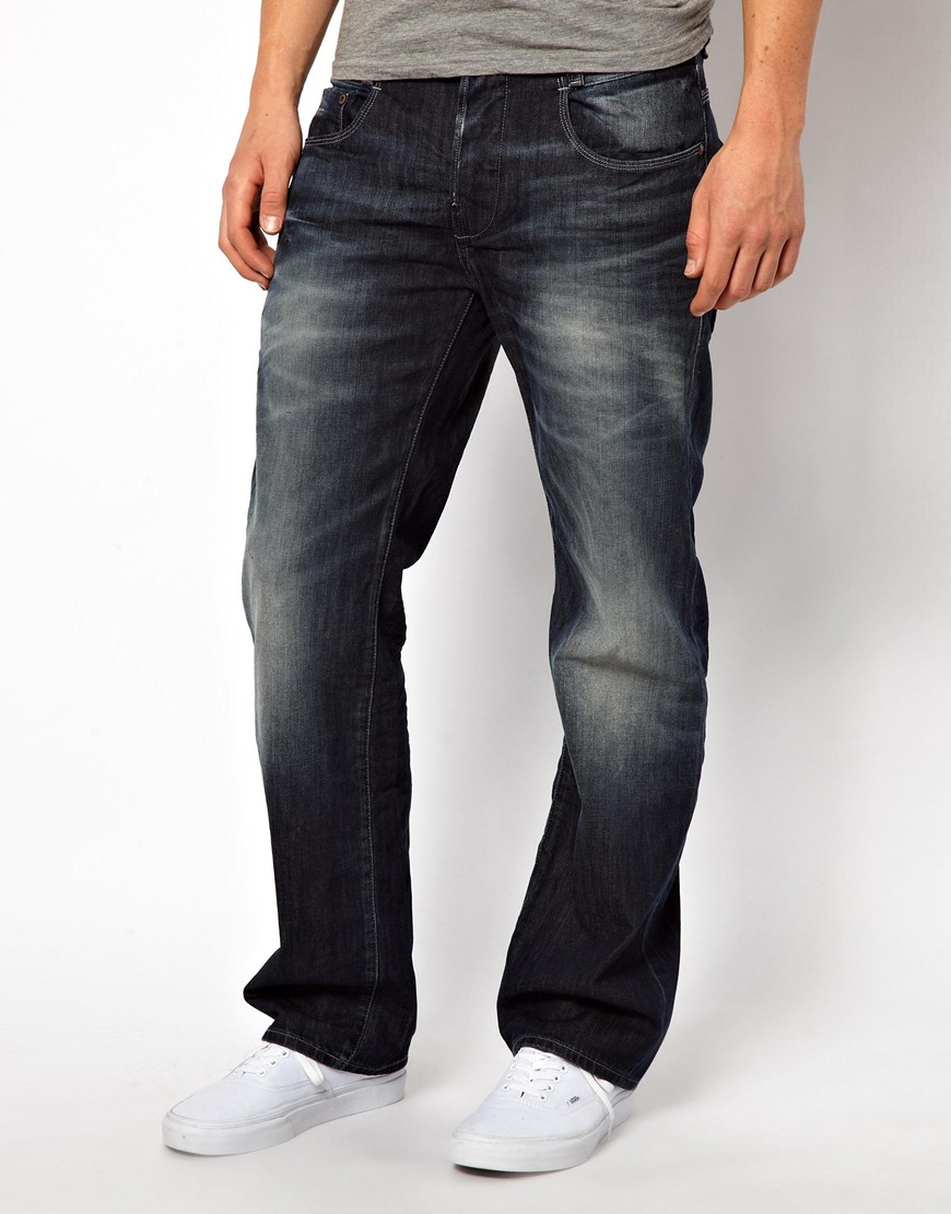 g star raw g star jeans low loose dark aged in blue for. Black Bedroom Furniture Sets. Home Design Ideas