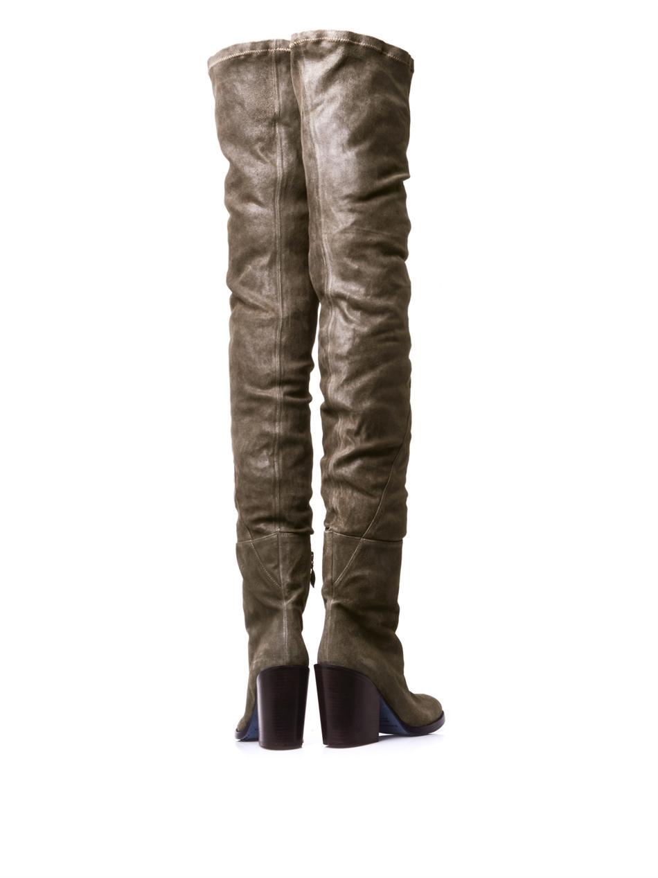 Lyst Haider Ackermann Arizona Thigh High Leather Boots