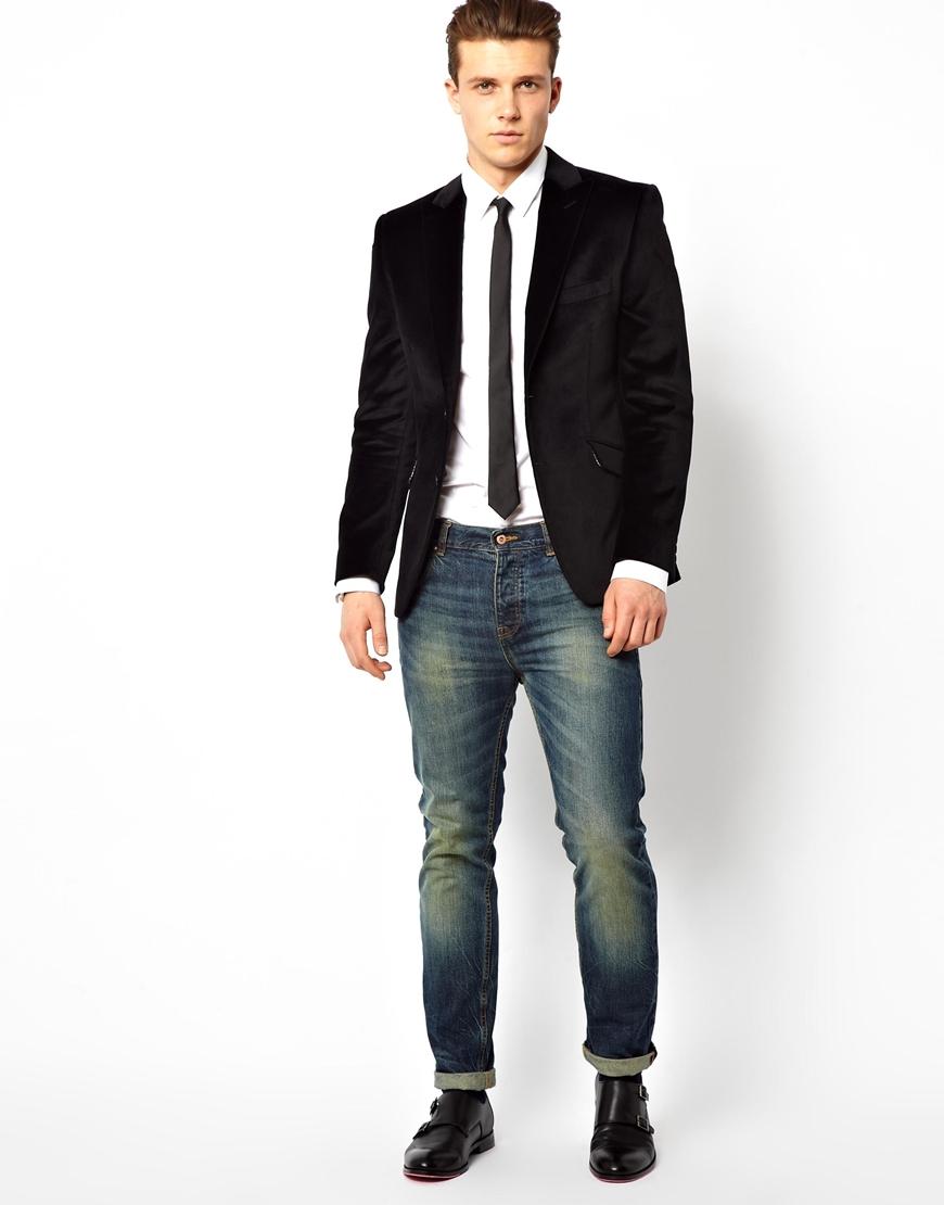 Lyst Lambretta Velvet Blazer In Black For Men