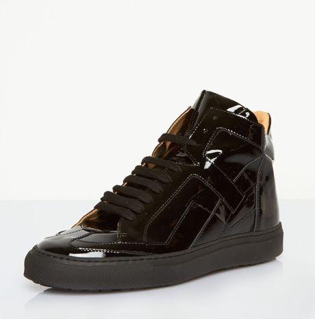 maison margiela hitop sneakers in black lyst. Black Bedroom Furniture Sets. Home Design Ideas