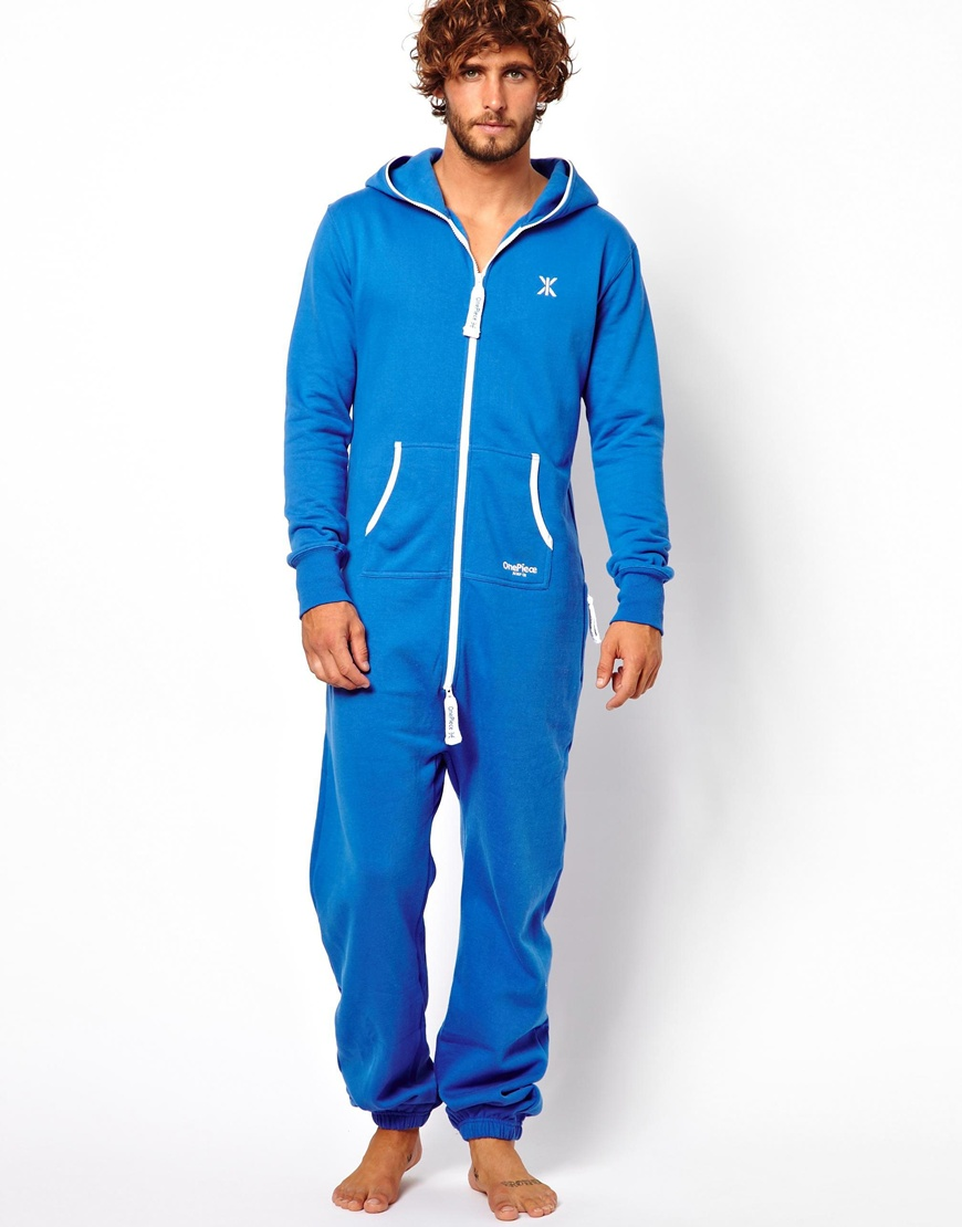 Lyst Asos Original Onesie Royal Blue Heavy Weight In Blue