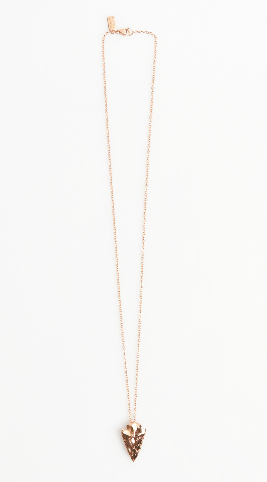 Pamela love mini arrowhead pendant in metallic lyst gallery aloadofball Image collections