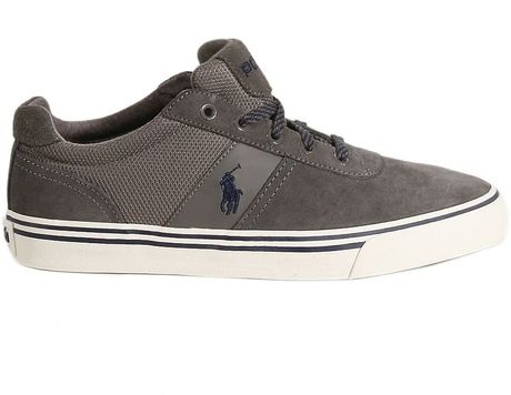 polo ralph shoes hanford sneakers suede and canvas