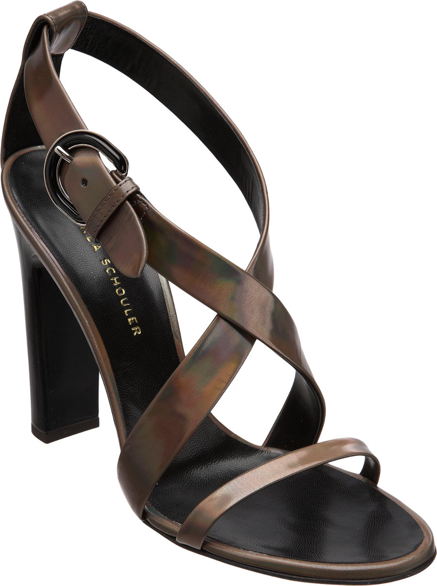 Proenza Schouler Iridescent Leather Sandals discount cheap outlet tumblr free shipping online DfT9LjcbXY