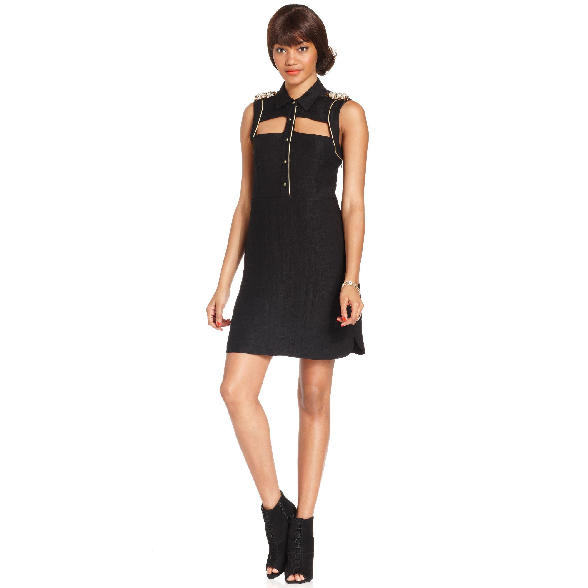 Rachel Rachel Roy Dress Sleeveless Beaded Cutout
