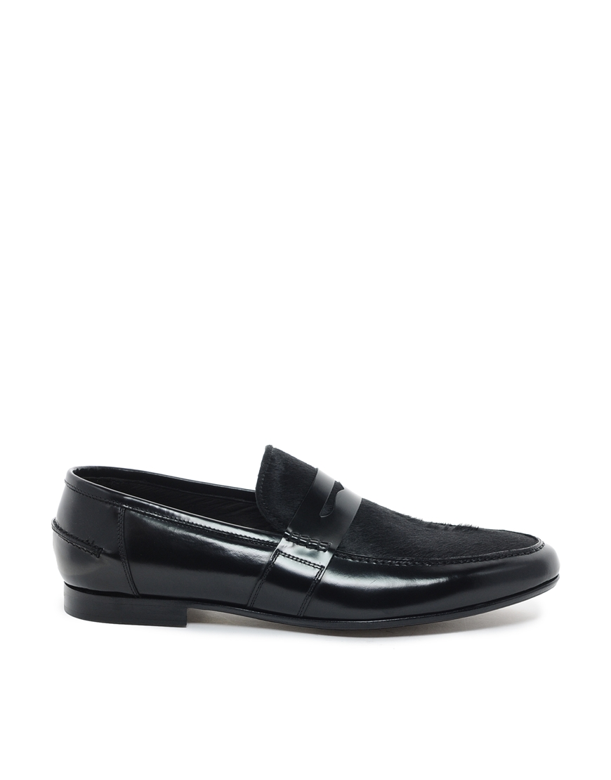 Rolando Sturlini Leather Penny Loafers
