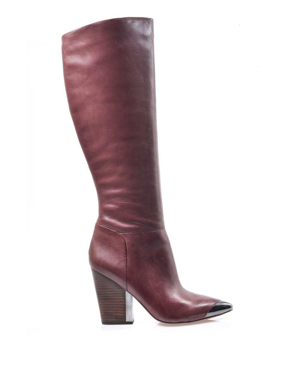 Lyst Sam Edelman Maureen Leather Boots In Purple