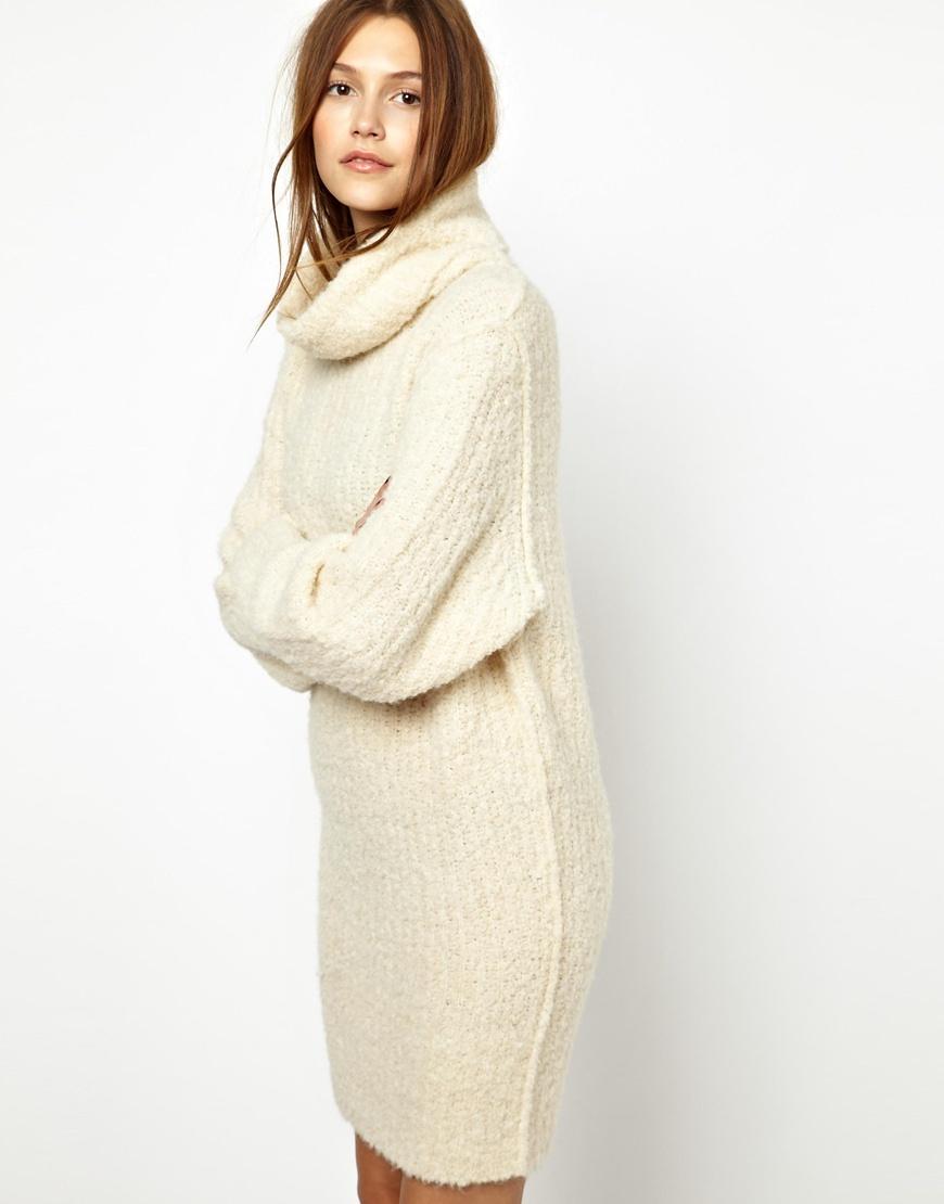 cc7bd9ede9c Lyst - Sonia by Sonia Rykiel Chunky Knitted Dress in Alpaca Mix in ...