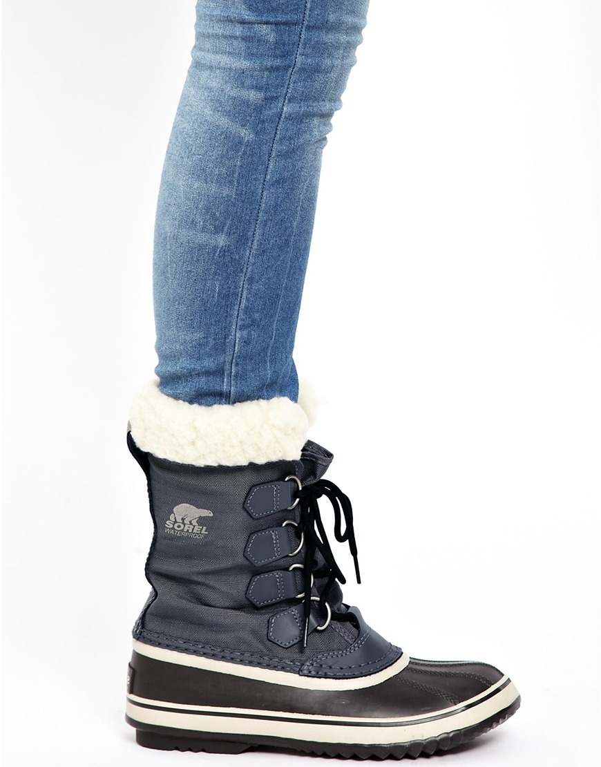 Lyst Asos Sorel Winter Carnival Pewter Snow Cuffed Boots