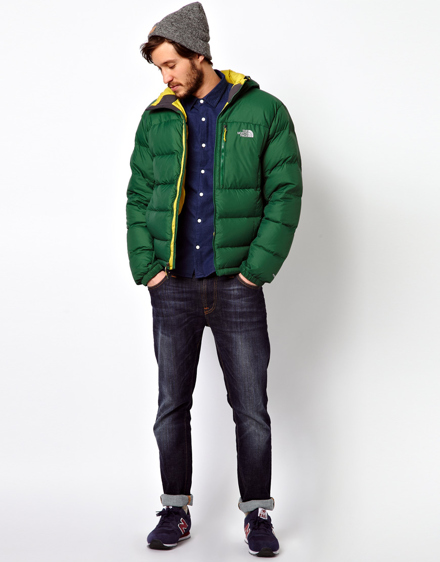 Lyst - The North Face Argento Down Jacket in Green for Men 622488bca