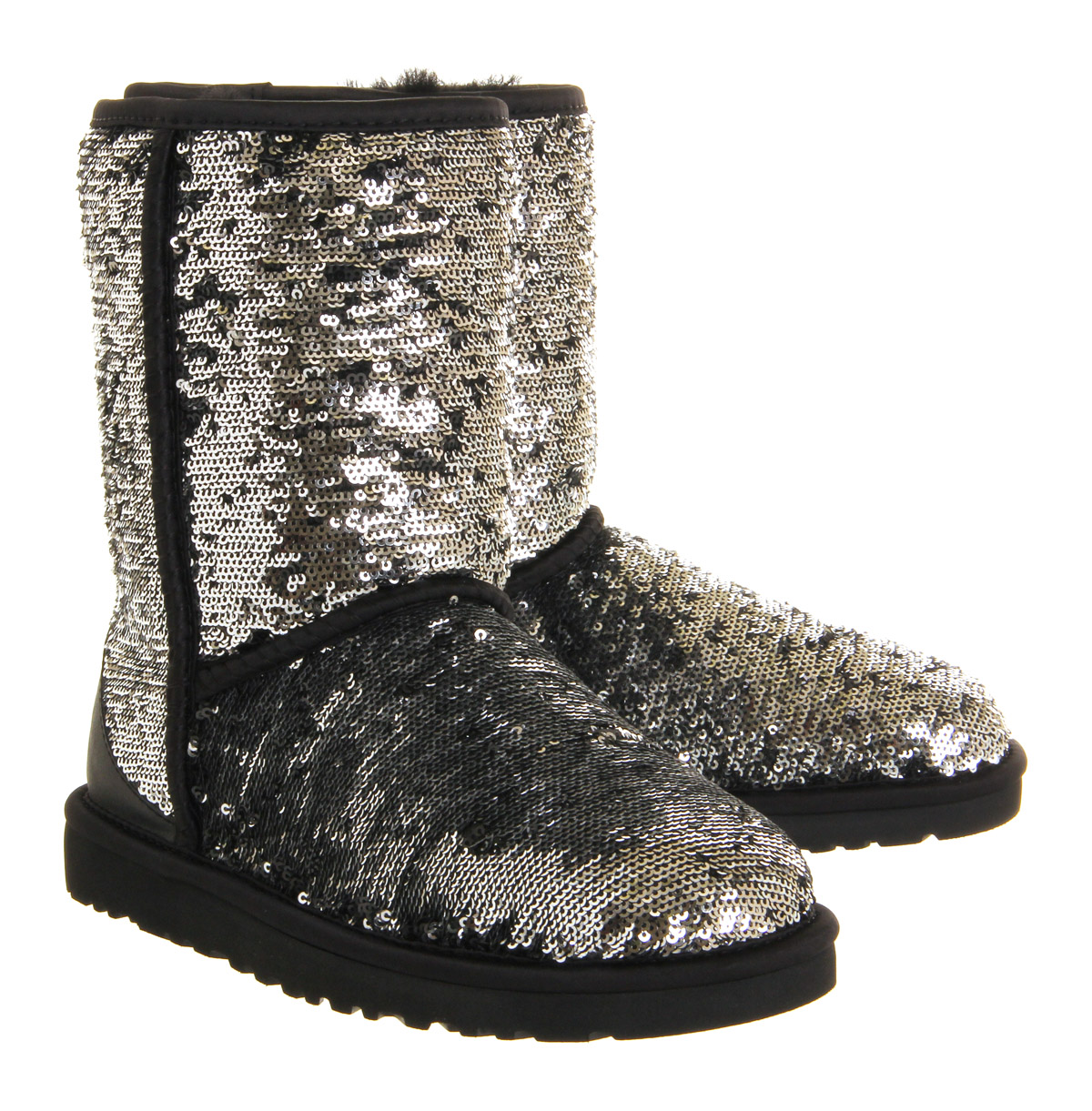 Lyst Ugg Classic Short Sparkle Sequined Boots In Metallic