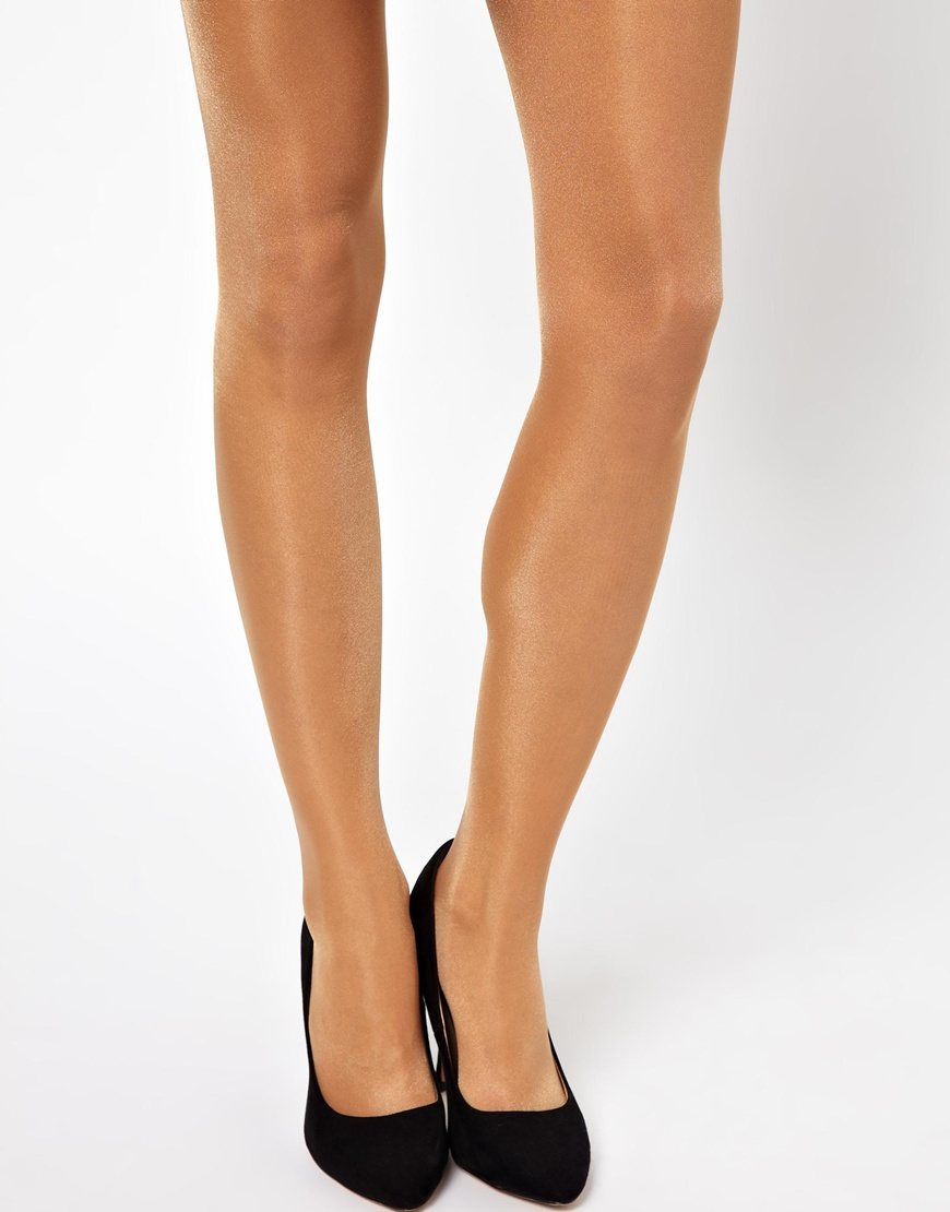 a997325f249cf Wolford 3 Pack Satin Touch 20 Denier Tights in Natural - Lyst