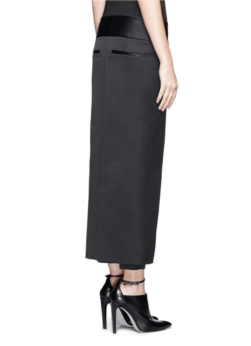 Lyst Alexander Wang Pleated Front Skirt Pants In Black