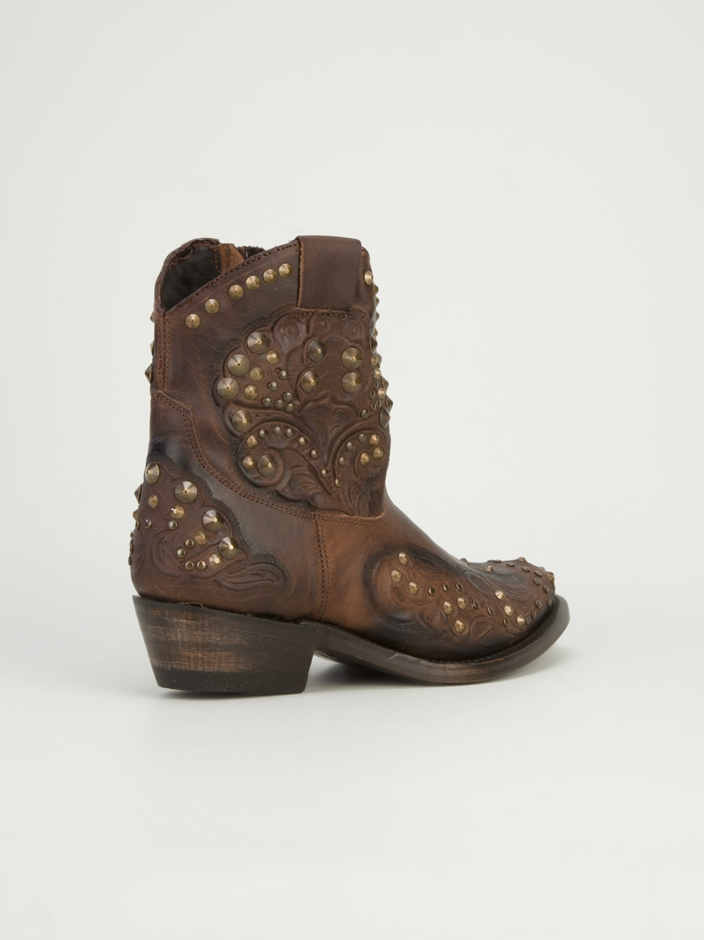 Ash Kendra Cowboy Boots in Brown
