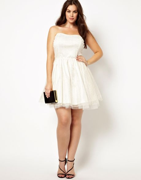 Ax Paris Plus Size Prom Dress in White