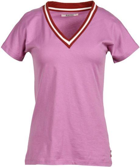 Bally Short Sleeve T Shirt In Purple Light Purple Lyst