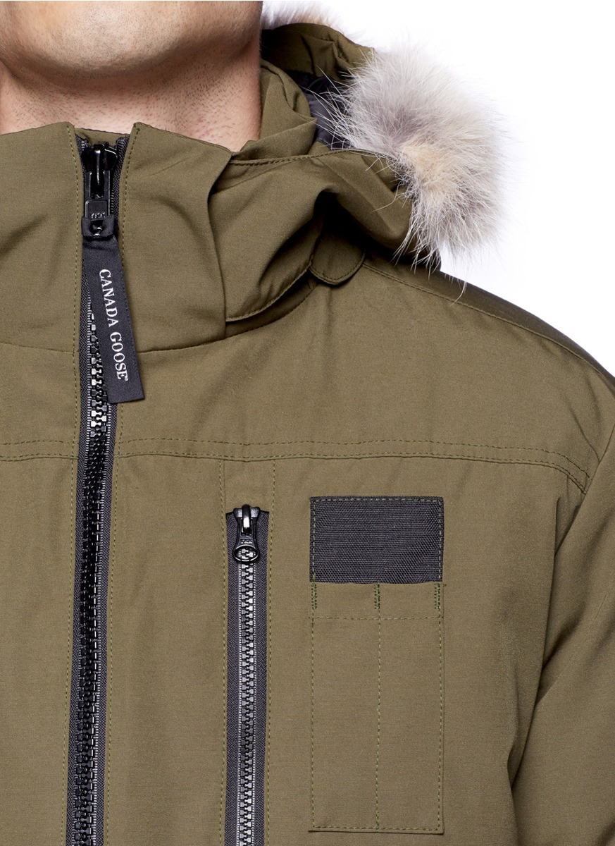 4036206c2ac ... coupon code lyst canada goose borden bomber jacket in green for men  10d57 9a2eb