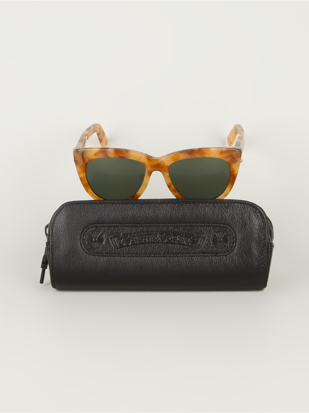 Chrome Hearts 'lunchfucks' Sunglasses in Brown