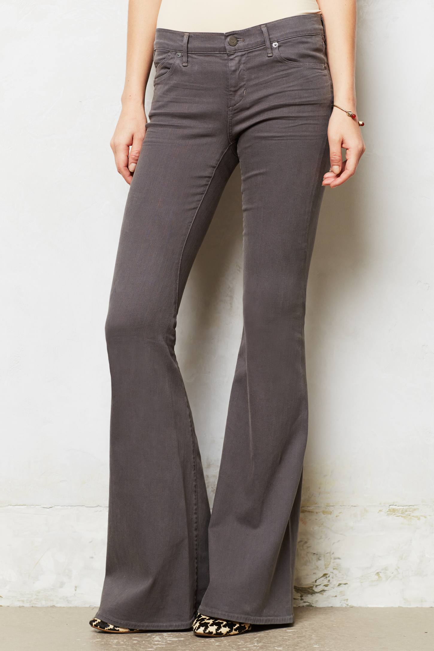 Citizens of humanity Charlie Super Flare Jeans in Gray | Lyst