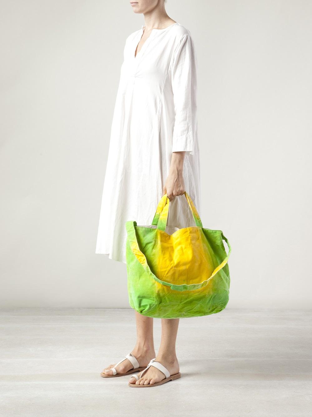 Dosa Sam Shonzeit Tote Bag in Green (Yellow)