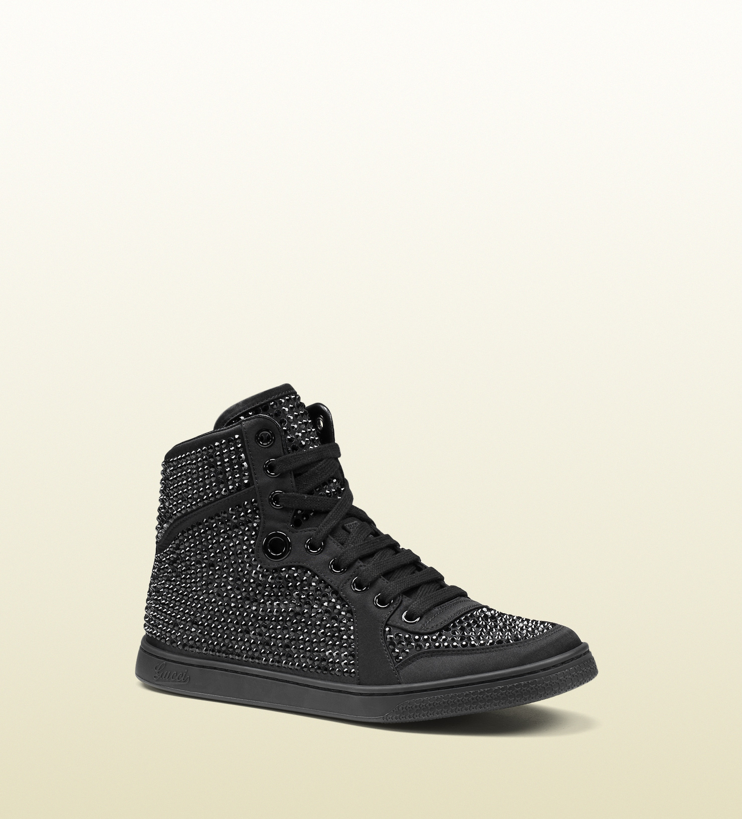 ceaf33b4d13 Lyst - Gucci Coda Satin Effect Fabric High-top Sneaker in Black for Men
