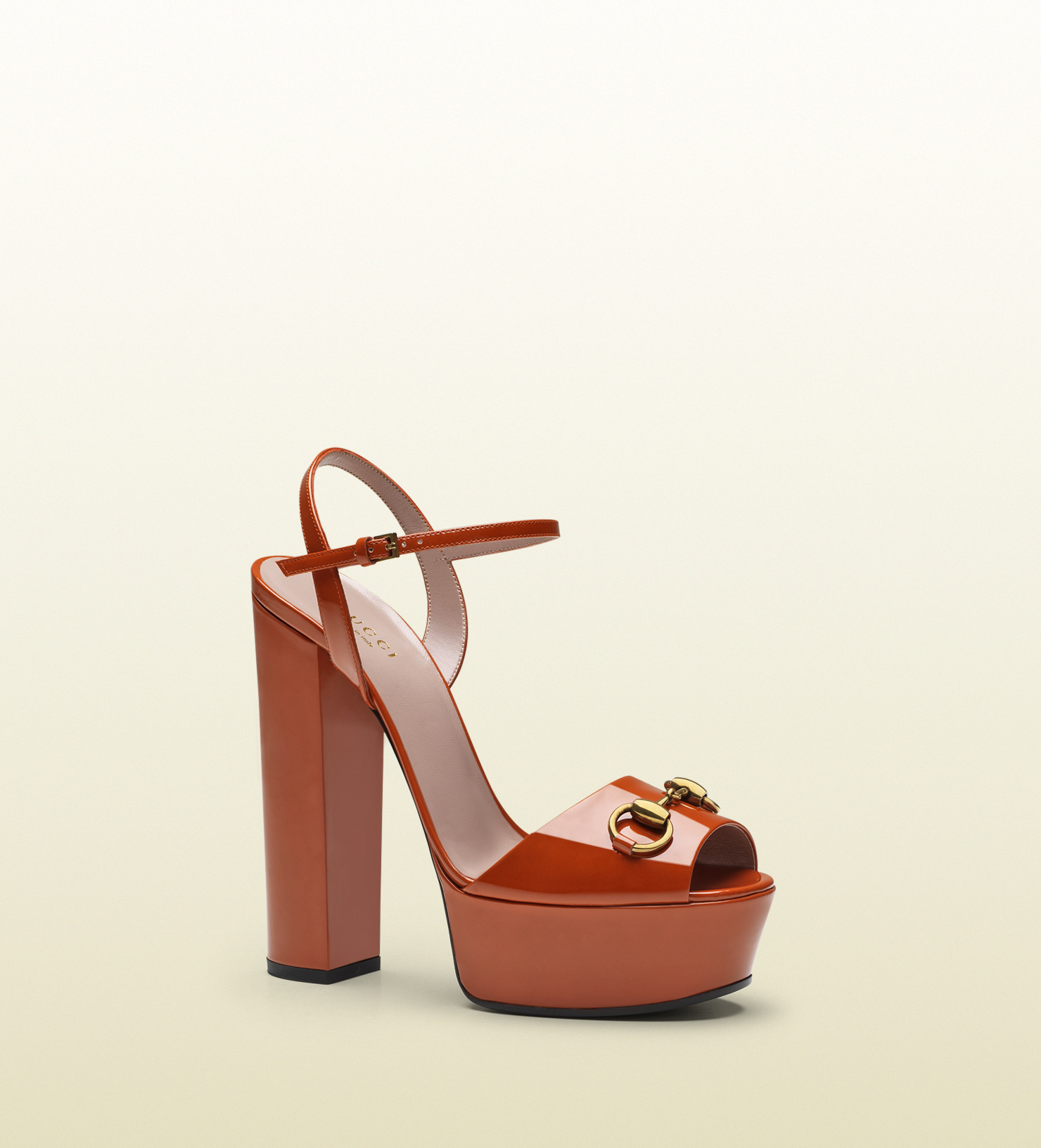Gucci Patent Leather Platform Sandal in