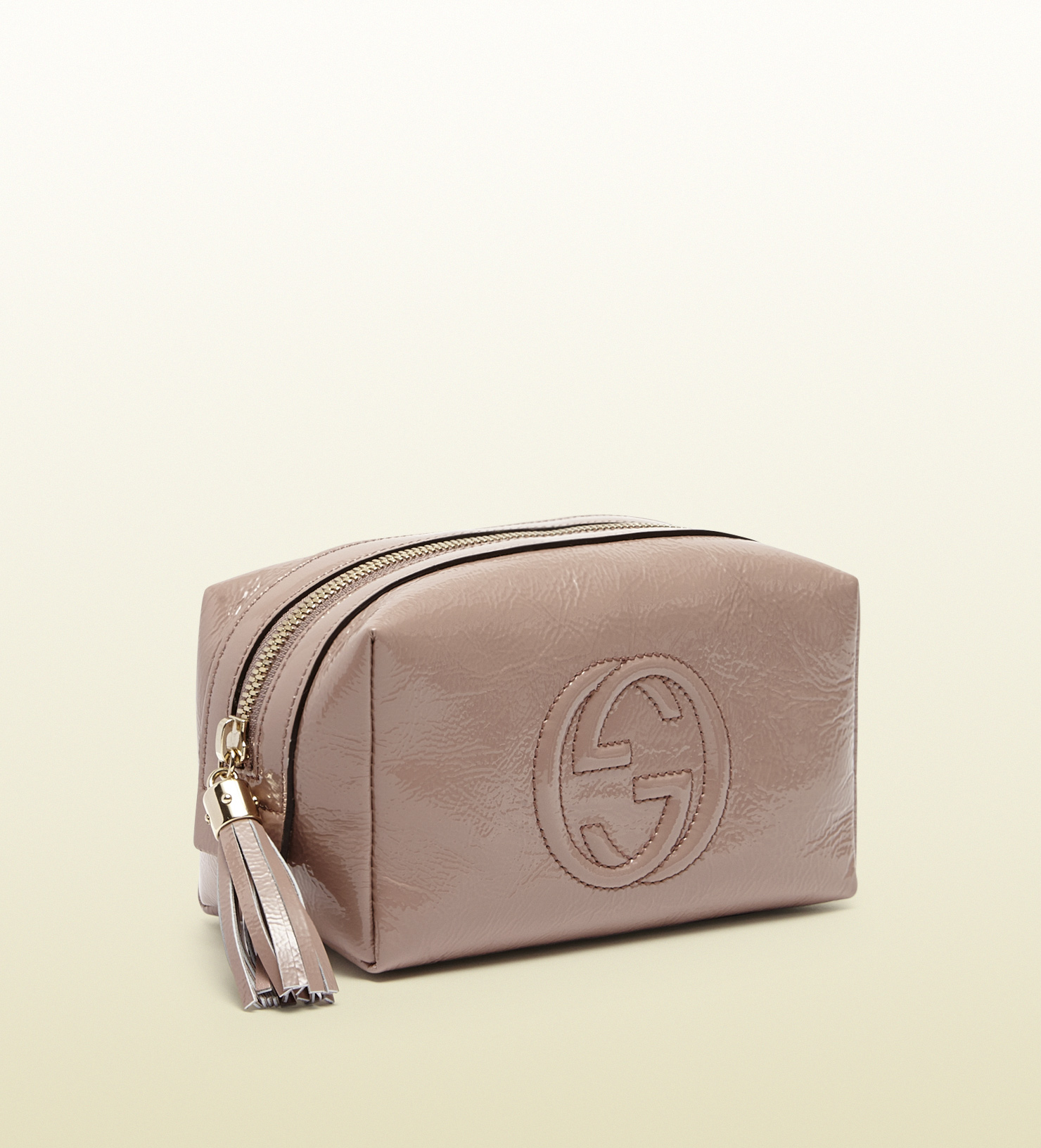 cae15b2c105 Lyst - Gucci Soho Patent Leather Cosmetic Case in Pink