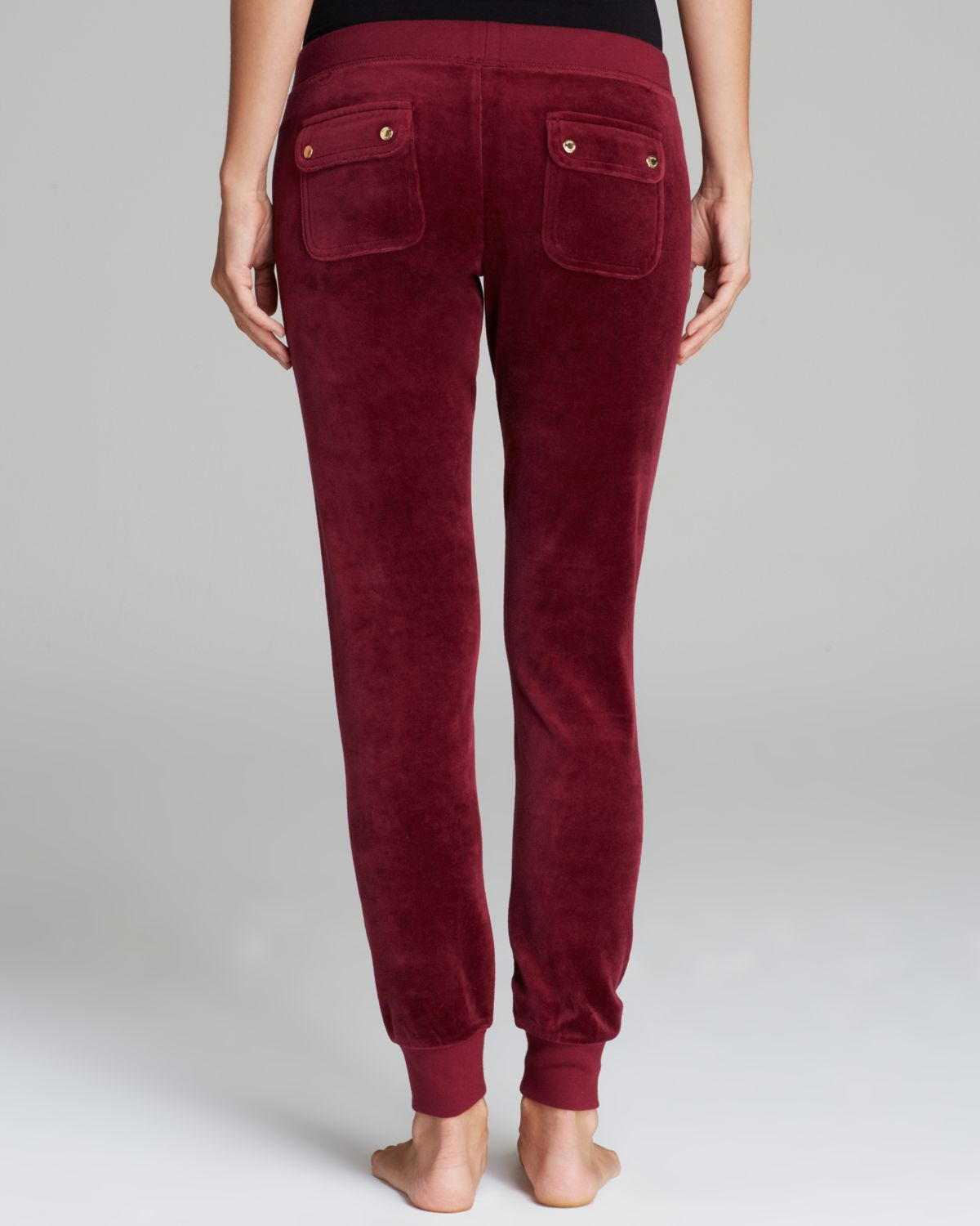 Juicy Couture Modern Track Velour Pants In Red Lyst