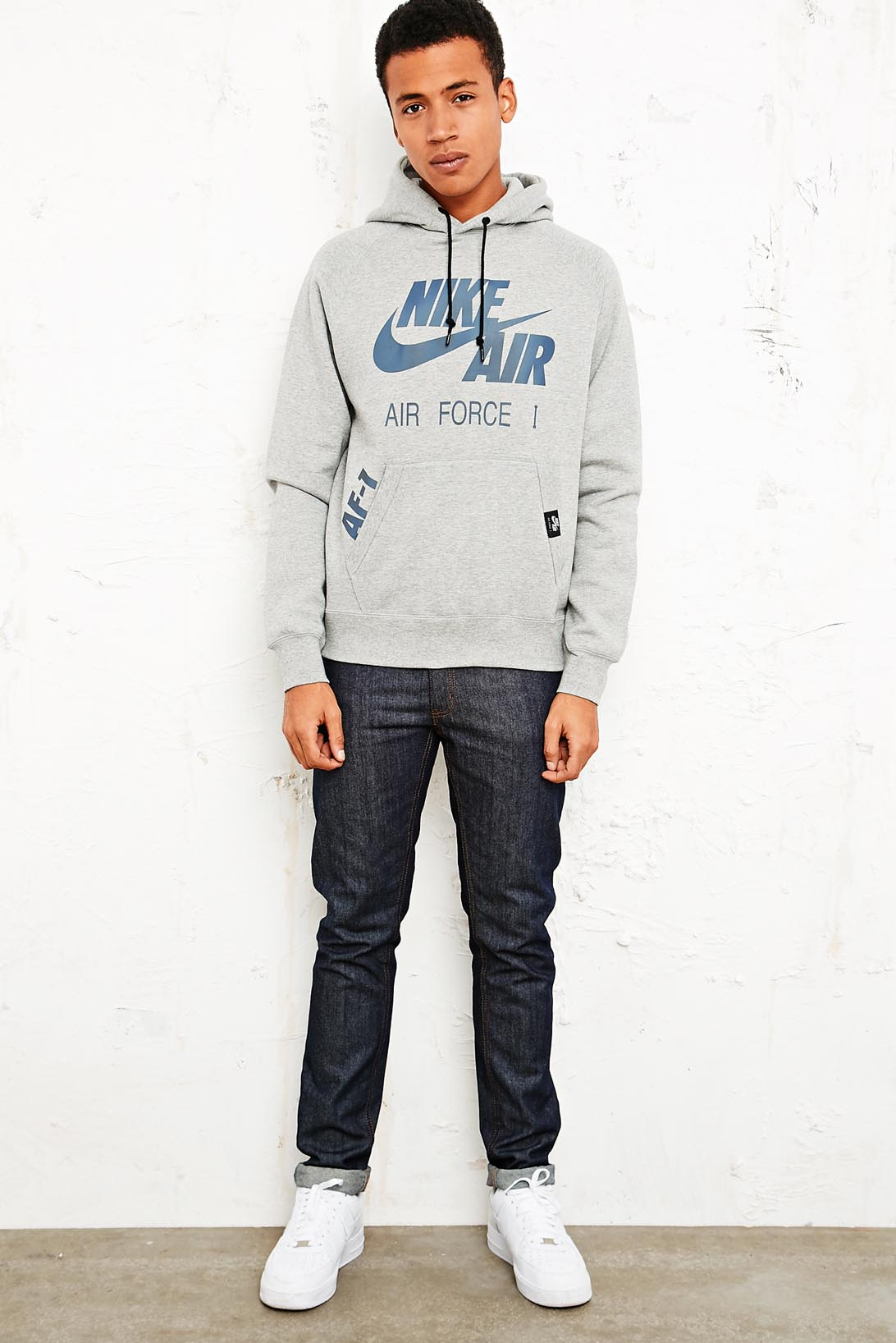 39a4b896 Nike Air Force 1 Pullon Hoodie in Gray for Men - Lyst