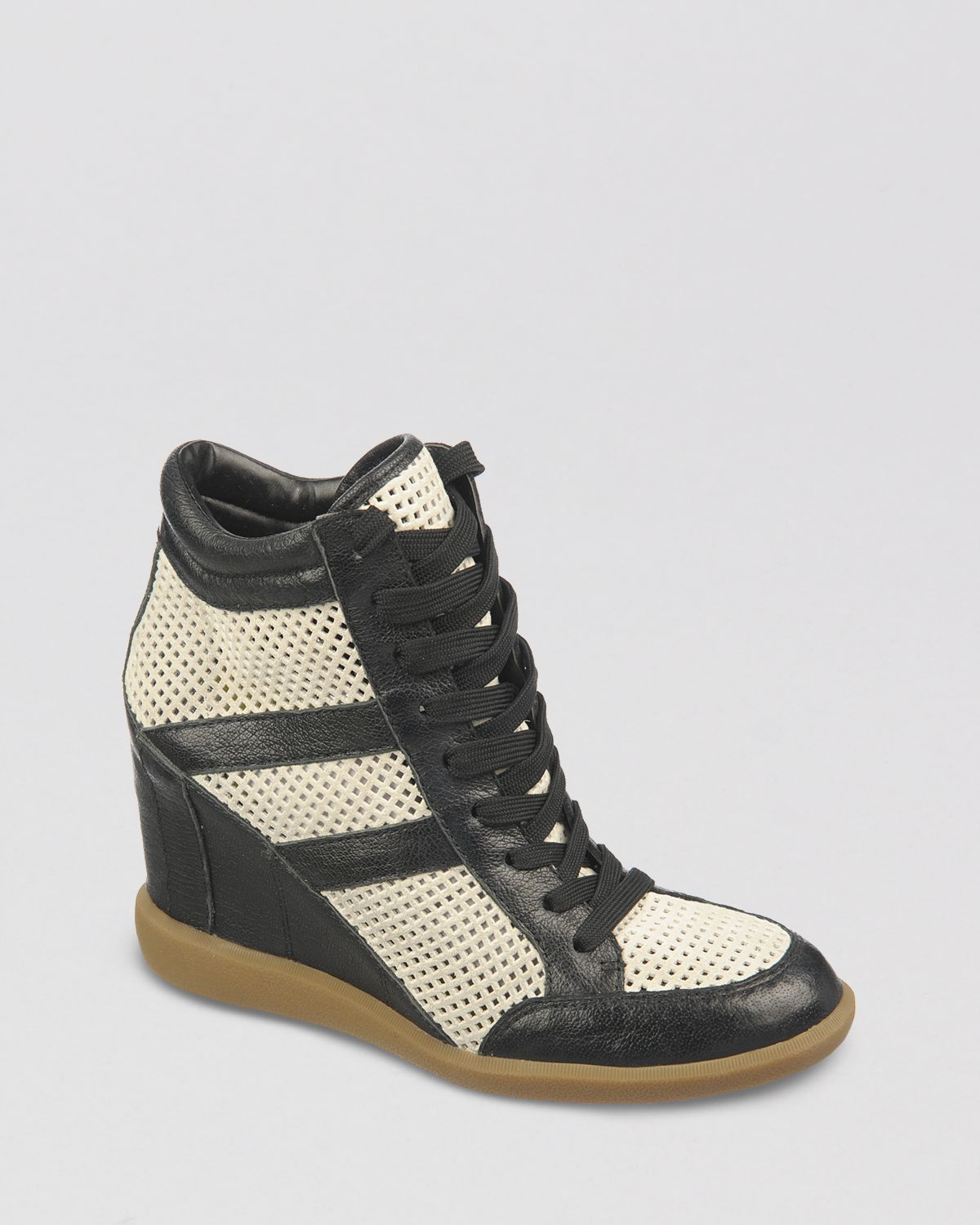 dc90e4386d6e Lyst - Sam Edelman Lace Up Wedge Sneakers Bolton in White