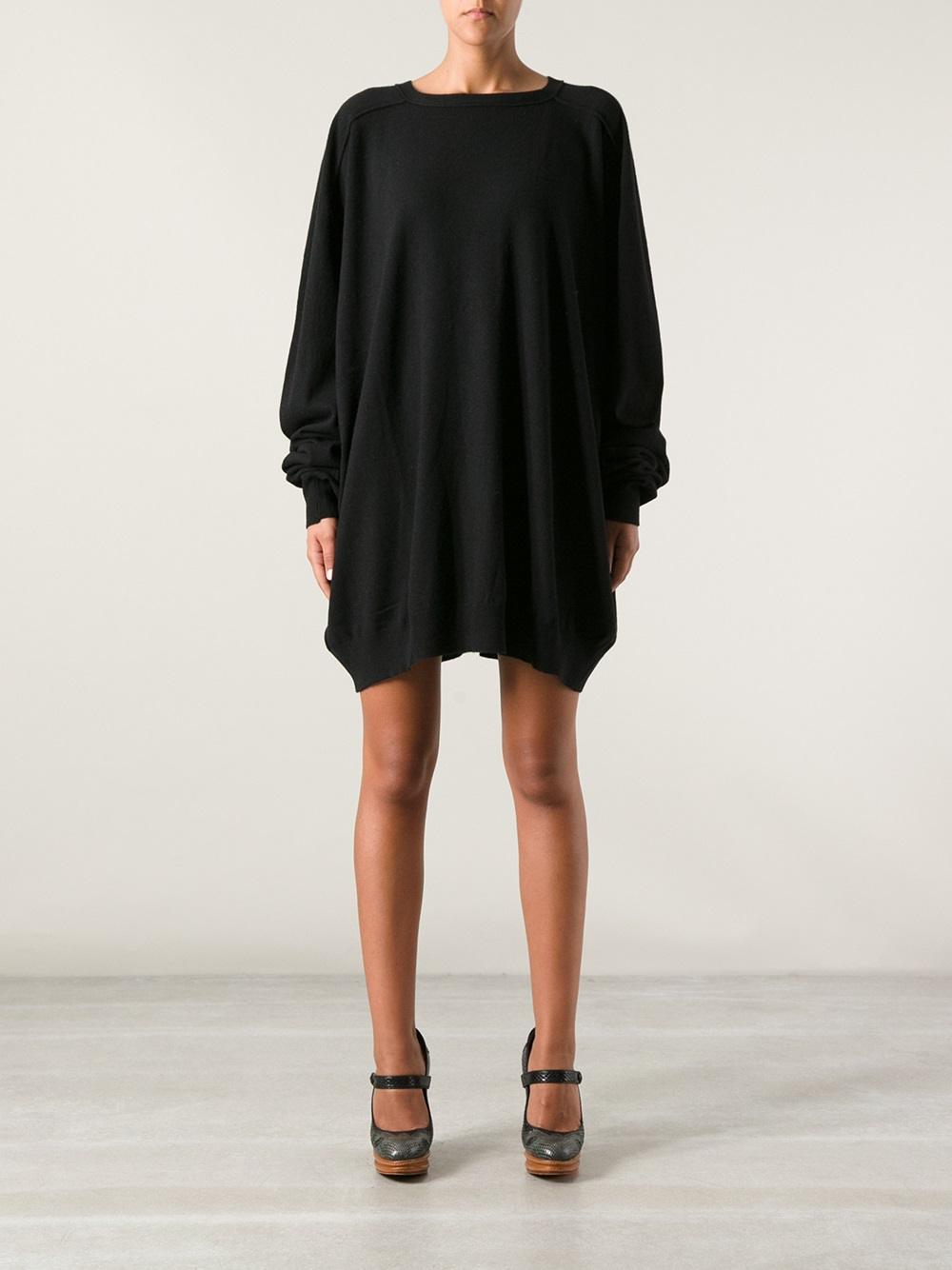 Societe Anonyme Oversized Jumper Dress Or Top In Black Lyst