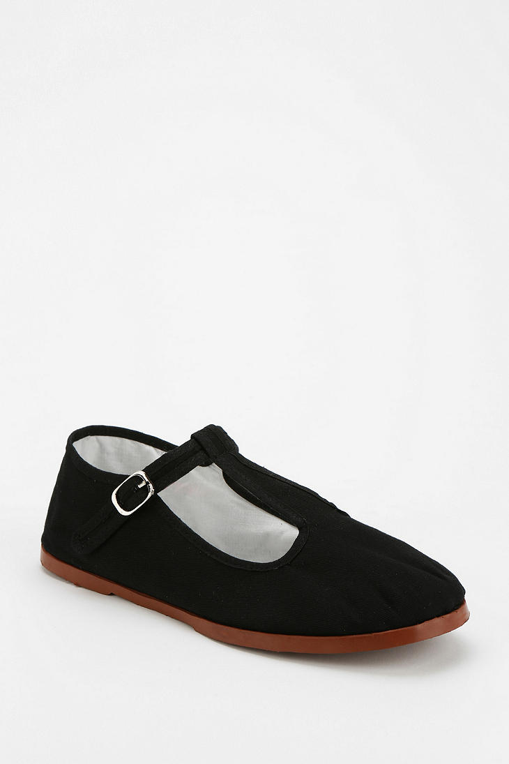 Urban Outfitters T Strap Mary Jane In Black Lyst