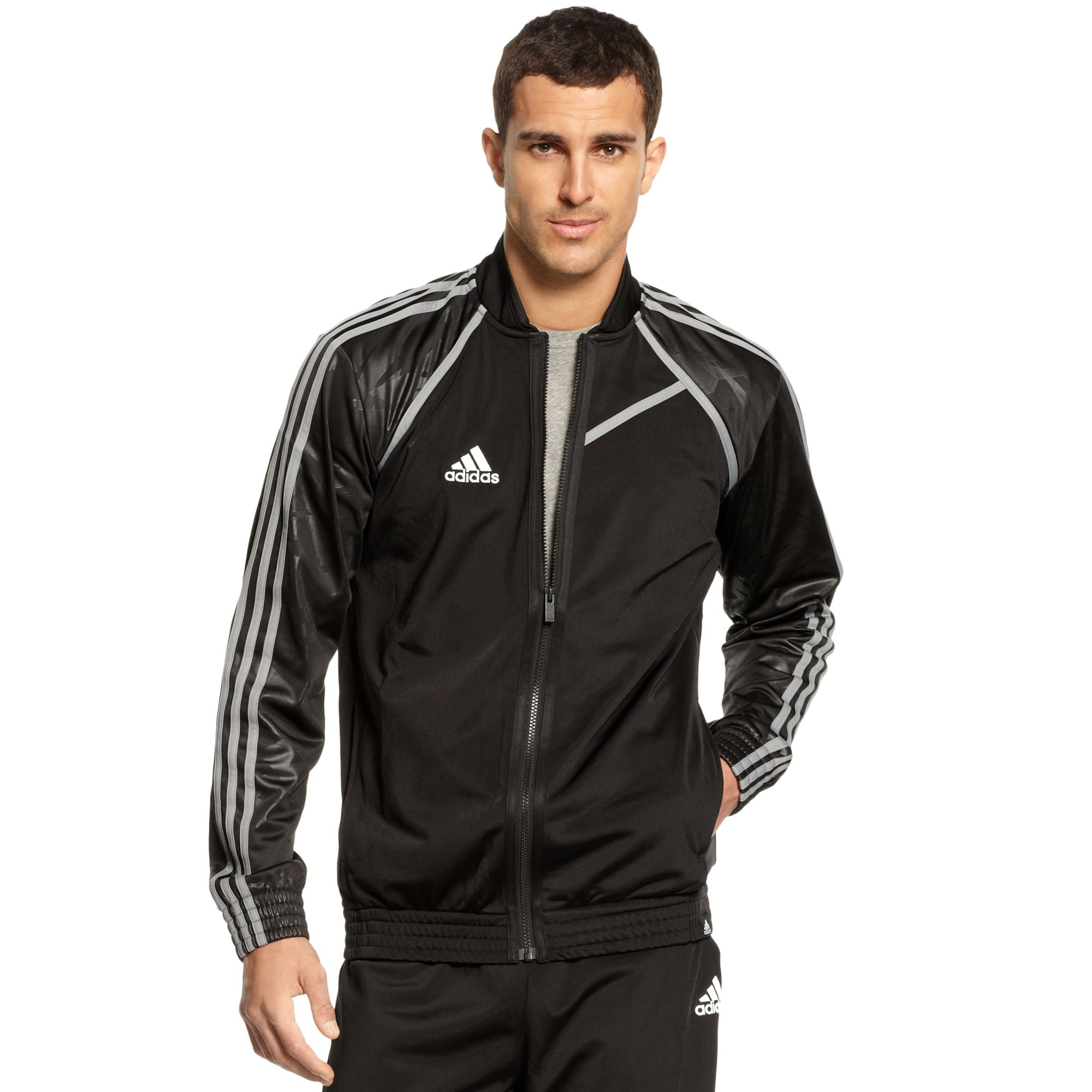 Adidas 3d Camo Basketball Jacket In Black For Men | Lyst