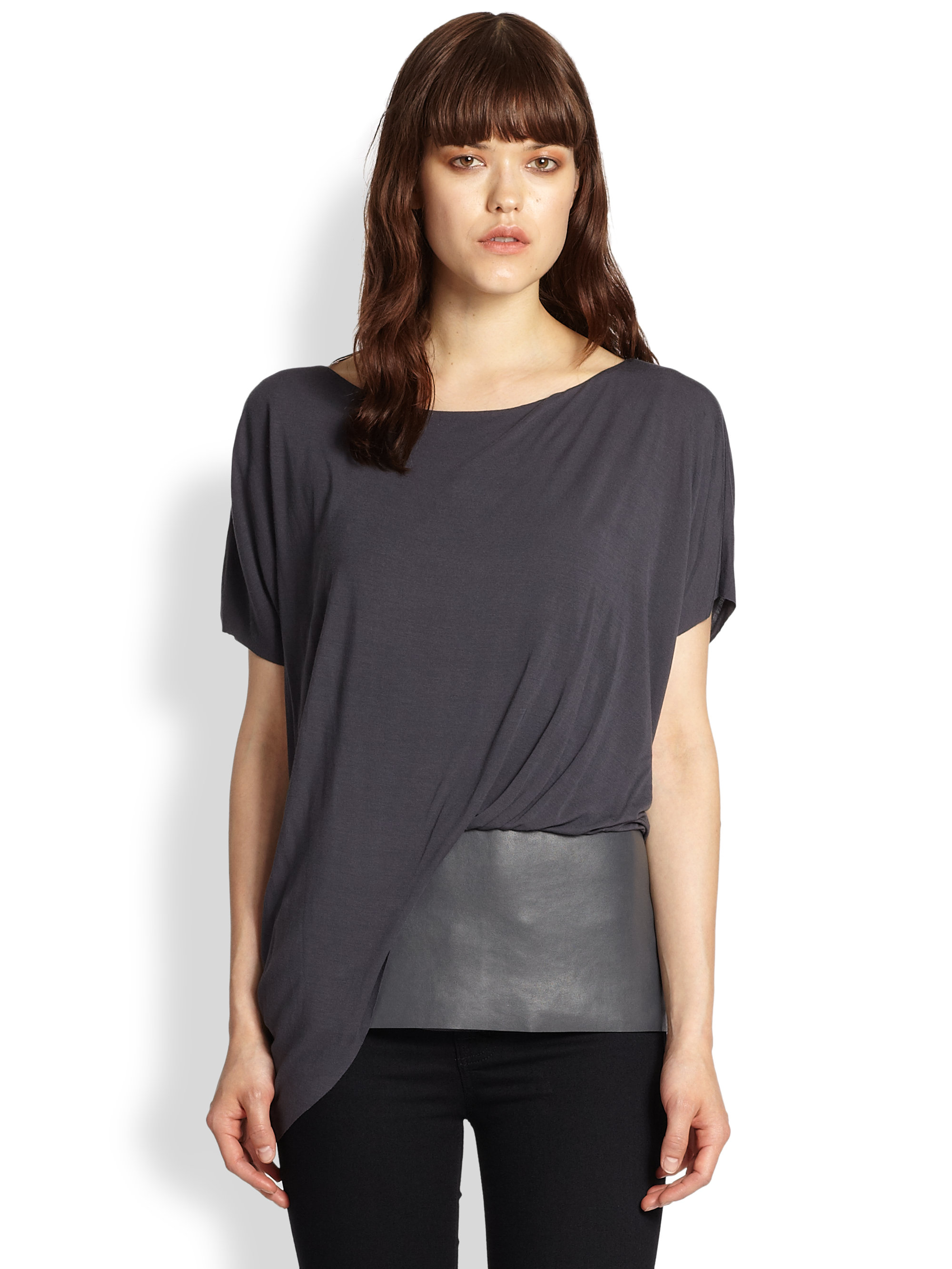 Lyst Bailey 44 Connectivity Faux Leatherpaneled Draped