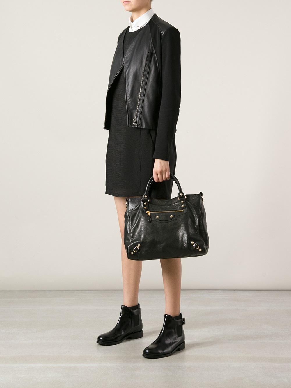 595a6b7be6 Balenciaga Giant Velo Arena Tote in Black - Lyst