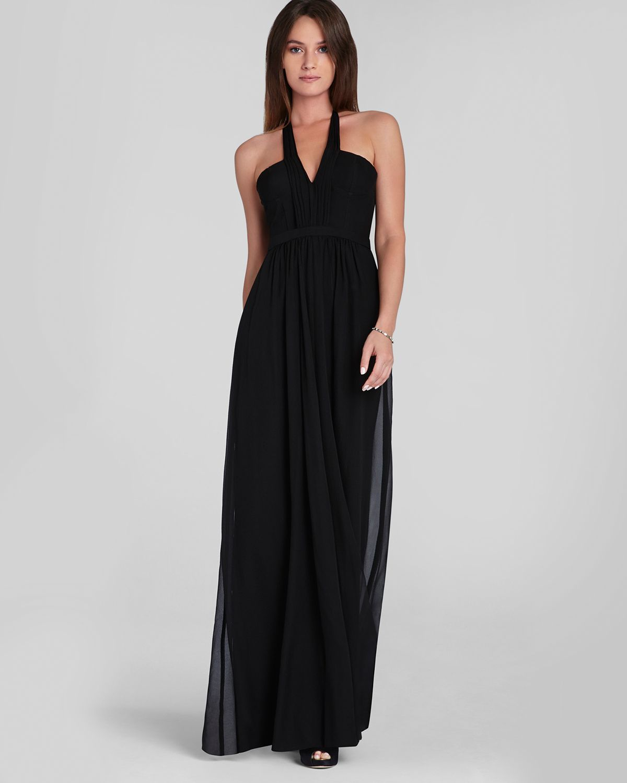 Lyst - Bcbgmaxazria Halter Gown - Starr in Black
