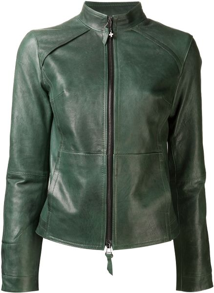 Beryll Leather Jacket in Green - Lyst
