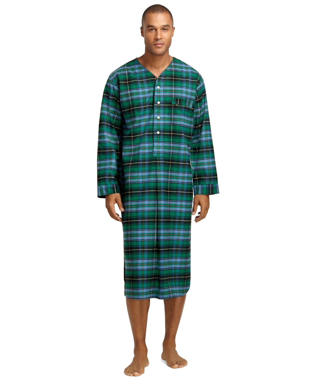 Brooks Brothers Ancient Hunting Tartan Flannel Nightshirt