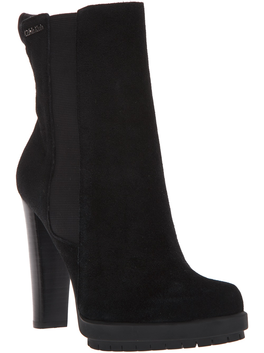Lyst Calvin Klein Ankle Boot In Black