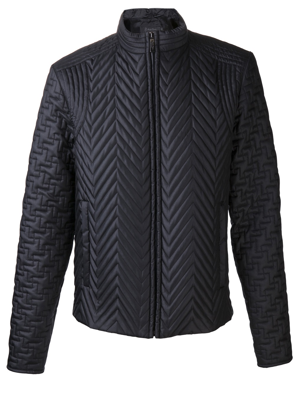 Lyst Calvin Klein Quilted Bomber Jacket In Black For Men