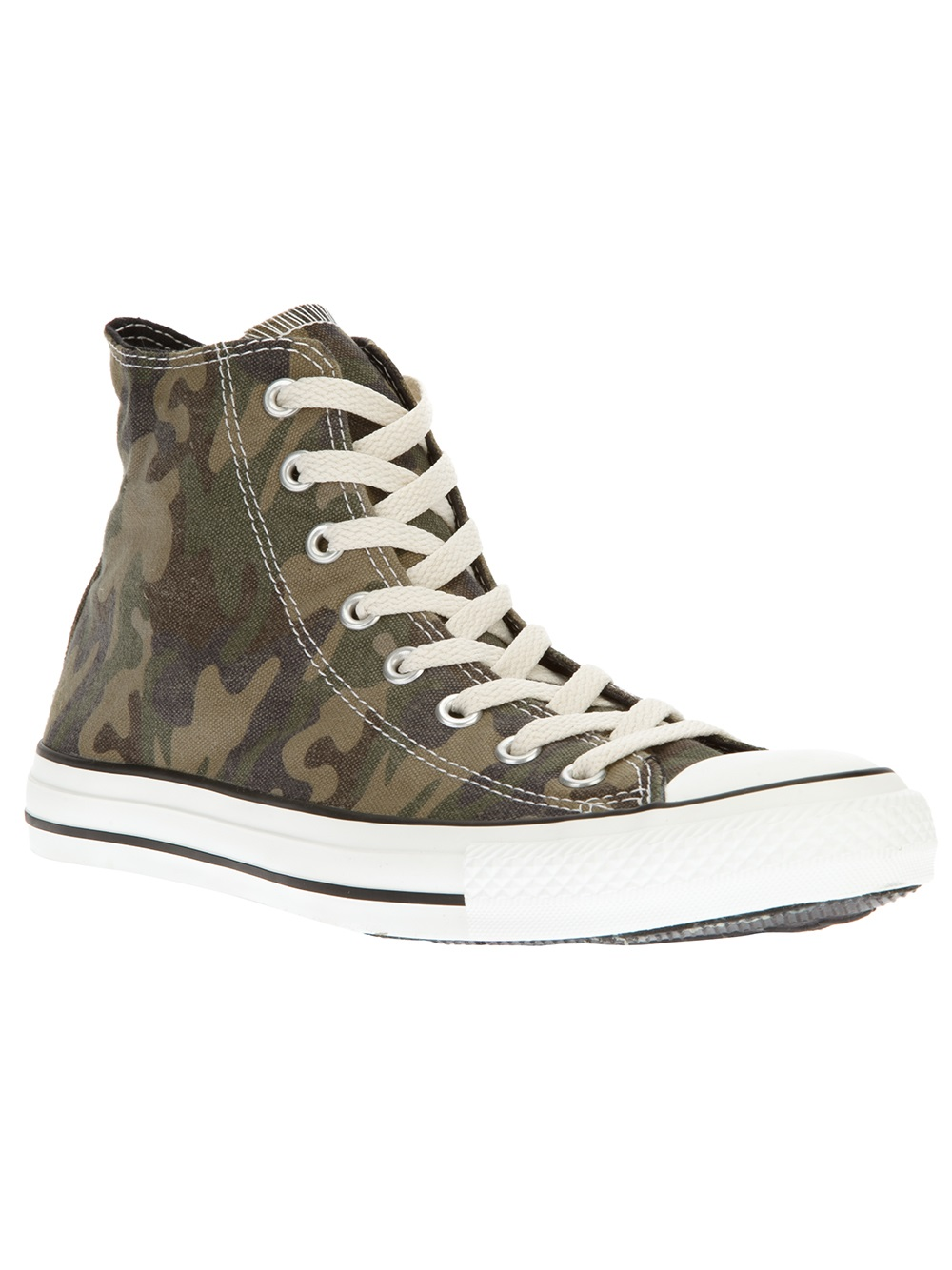 Converse Camouflage Hitop In Green For Men Lyst
