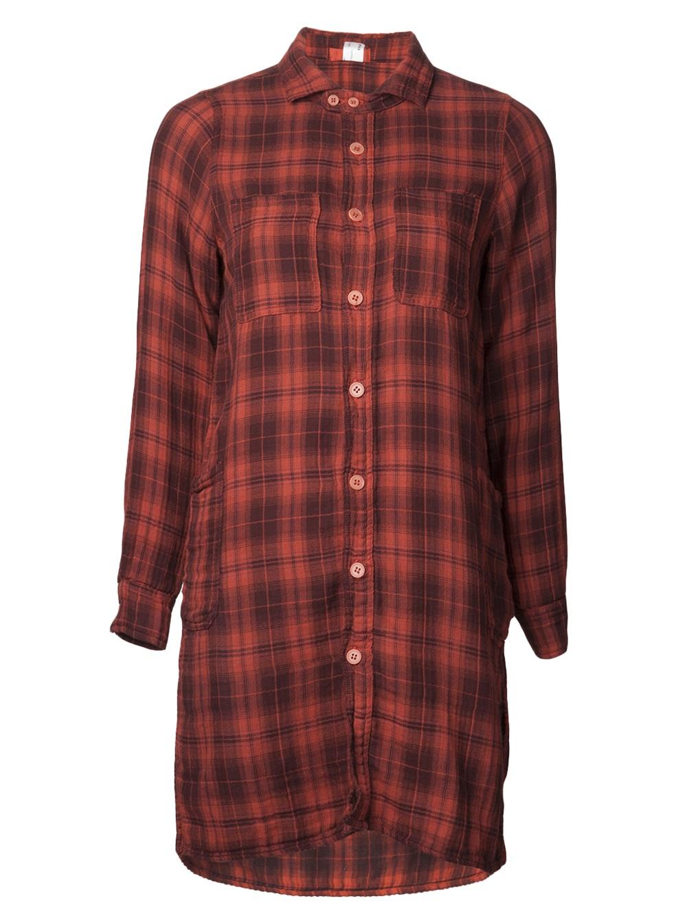 Cp Shades Plaid Shirt Dress In Red Lyst