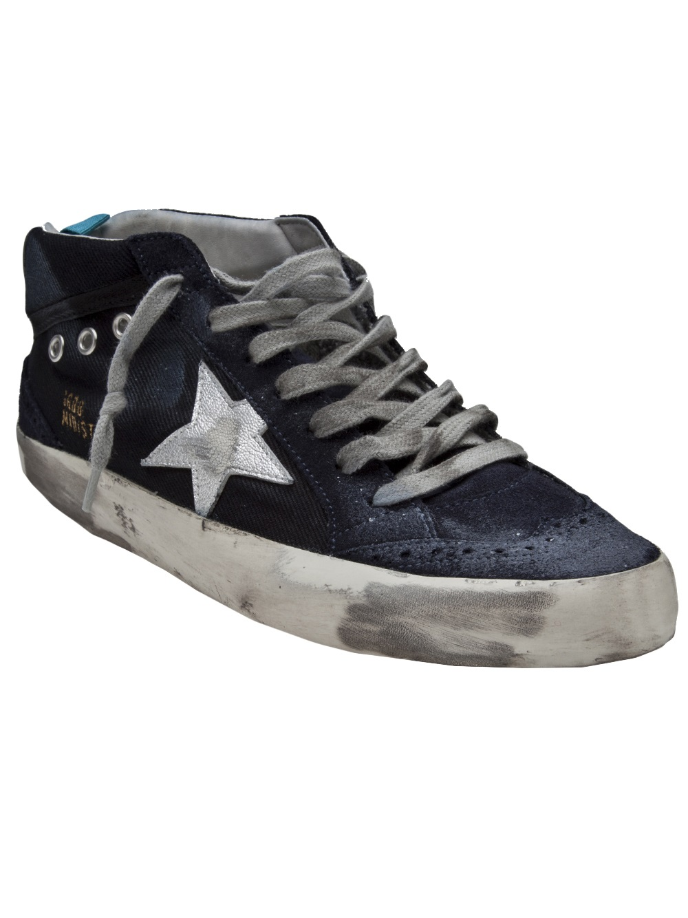 lyst golden goose deluxe brand mid star sneaker in blue. Black Bedroom Furniture Sets. Home Design Ideas