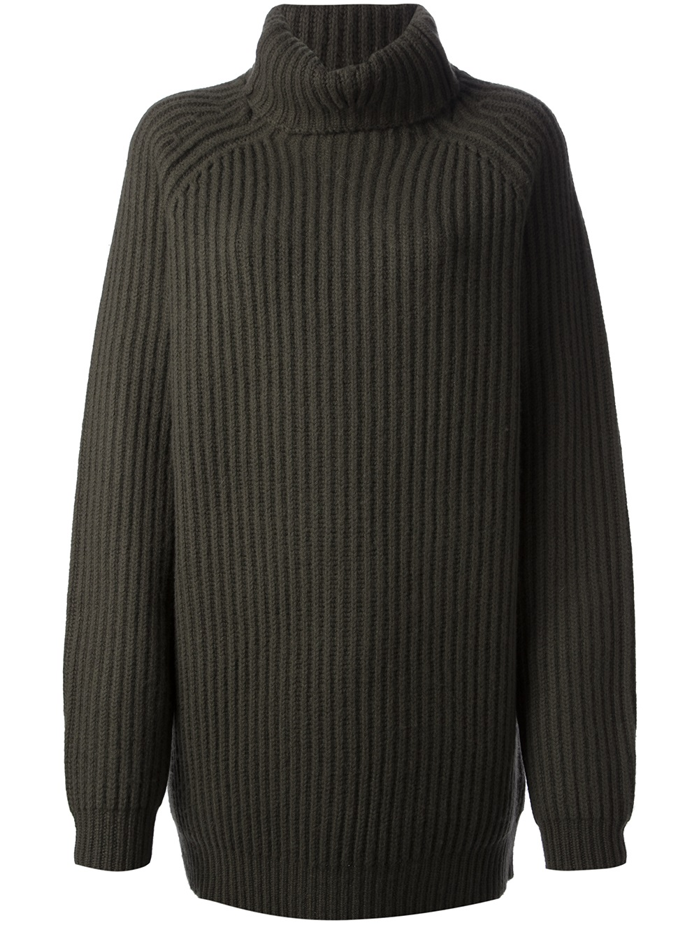 haider ackermann oversize roll neck sweater in green lyst. Black Bedroom Furniture Sets. Home Design Ideas