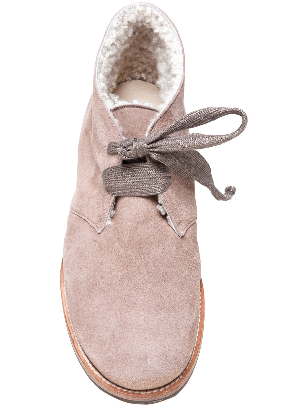 Henry Cuir Desert Bootie in Natural