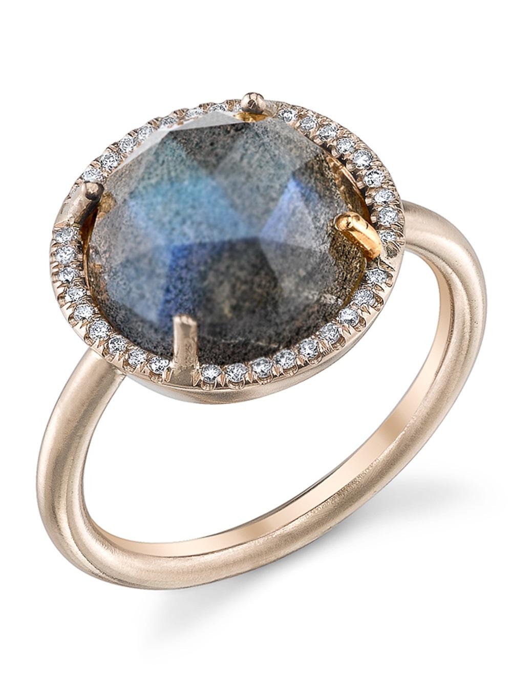 Irene Neuwirth Rose Cut Labradorite Ring in Metallic (Grey)