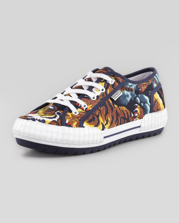 Kenzo Helmut Flying Tiger Lowtop Sneaker in Animal  FLYING TIGER Kenzo Flying Tiger Shoes